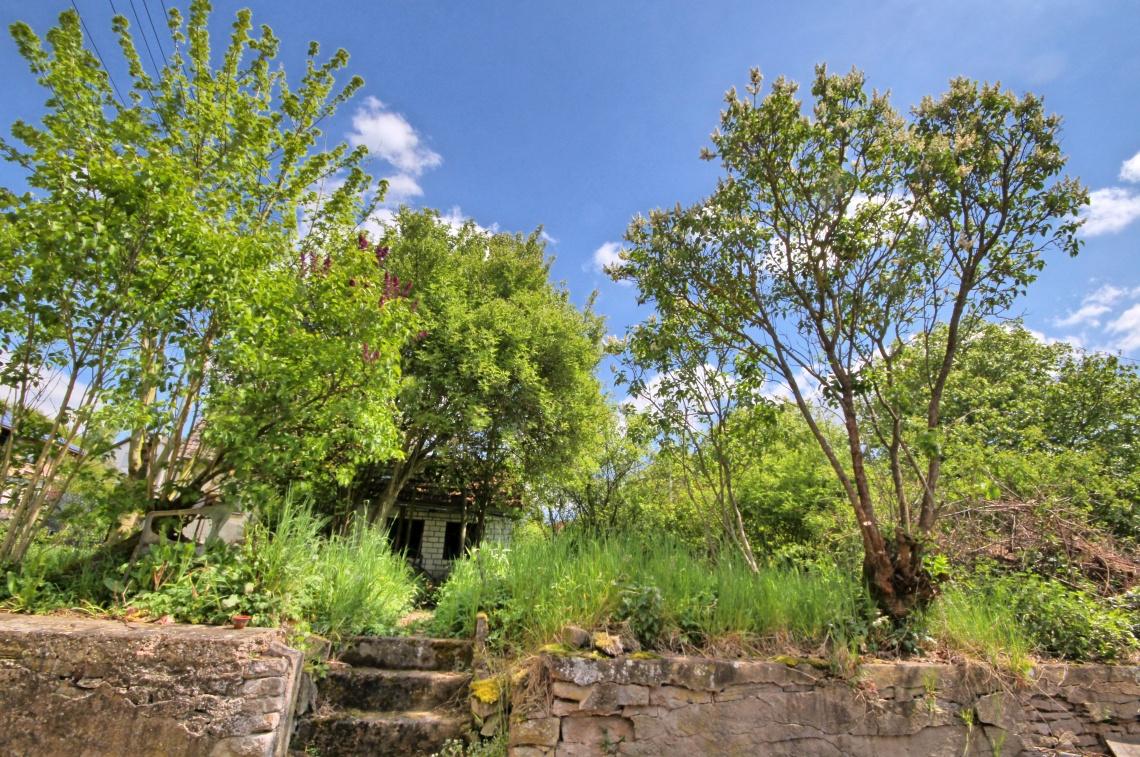 Garten mit Häuschen